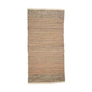 Hnědý bavlněný koberec Simla Minimalism, 170x130cm