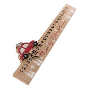Dřevěný podlouhlý adventní kalendář Auto Dakls, délka 40 cm