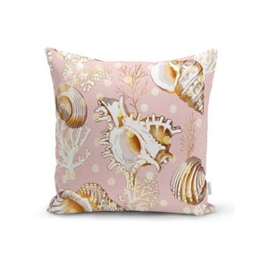 Povlak na polštář Minimalist Cushion Covers Sea Shells With Pink BG, 45 x 45 cm