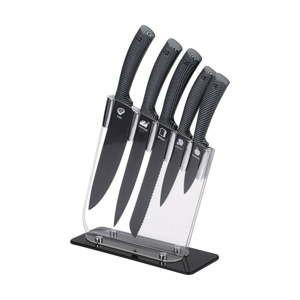 Sada 6kuchyňských nožů znerezové oceli ve stojanu Bergner Jarama