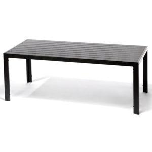 Černý zahradní jídelní stůl Timpana Viking, délka 205 cm