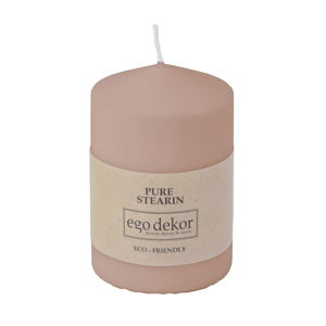 Pudrově růžová svíčka Baltic Candles Eco Top, výška 10cm