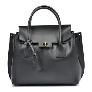 Černá kožená kabelka Luisa Vannini Angela