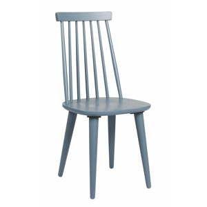 Modro-šedá jídelní židle ze dřeva kaučukovníku Folke Lotta