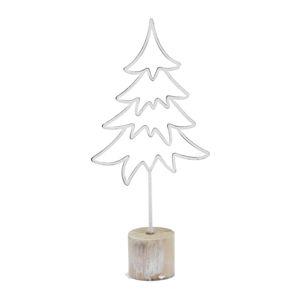 Bílá vánoční dekorace ve tvaru stromku Ego Dekor Tree