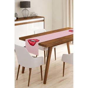 Běhoun na stůl z mikrovlákna Minimalist Cushion Covers Vector Kiss, 45x145cm