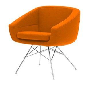 Oranžové křeslo Softline Aiko Valencia Orange