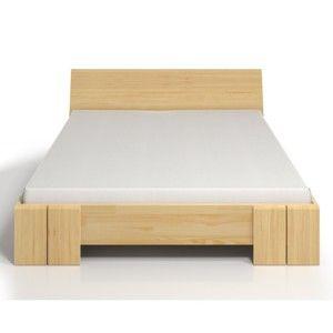 Dvoulůžková postel z borovicového dřeva s úložným prostorem SKANDICA Vestre Maxi, 160x200cm