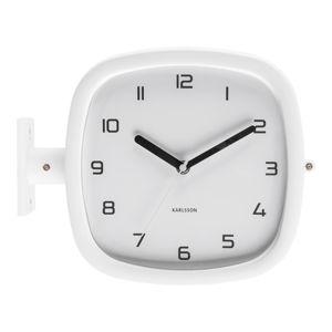 Bílé nástěnné hodiny PT LIVING Slides, 29 x 24,5 cm