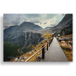 Obraz na plátně Styler Norway Mountains, 115 x 87 cm