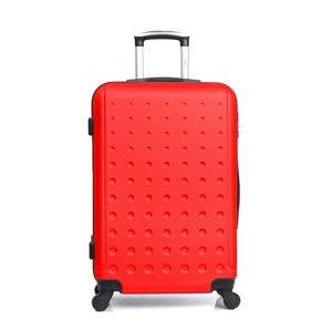 Červený cestovní kufr na kolečkách Hero Taurus,64l