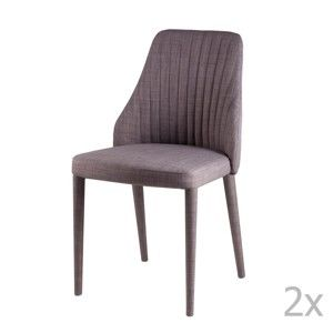 Sada 2 světle šedých  jídelních židlí sømcasa Dora