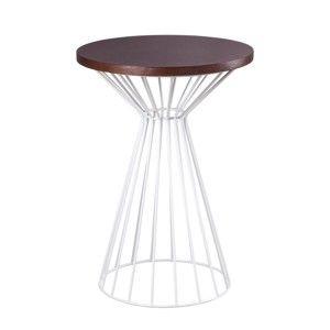 Hnědý odkládací stolek sømcasa Nico
