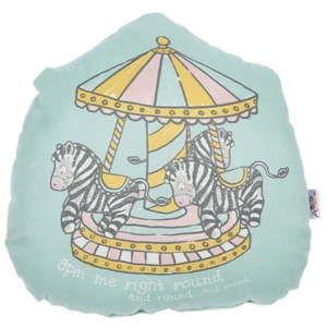 Dětský polštářek s příměsí bavlny Apolena Pillow Toy Zebras, 29 x 29 cm