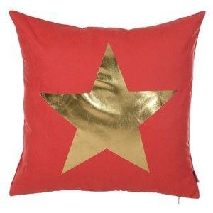 Červený povlak na polštář Apolena Star, 45 x 45 cm