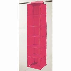 Růžový závěsný organizér s 6 přihrádkami Compactor Garment