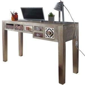 Pracovní stůl z mangového dřeva Skyport LONI