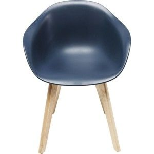 Sada 4 modrých židlí Kare Design Forum