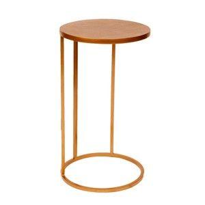 Odkládací stolek v mosazné barvě Miloo Home Antique