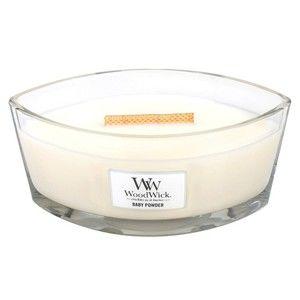 Svíčka s vůní vanilky, medu a růže WoodWick Dětský pudr, dobahoření30hodin