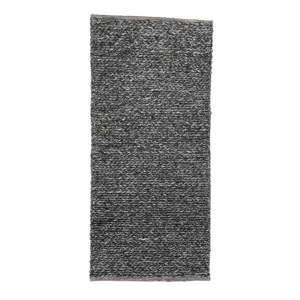 Černý vlněný koberec Simla Chenille, 140x70cm