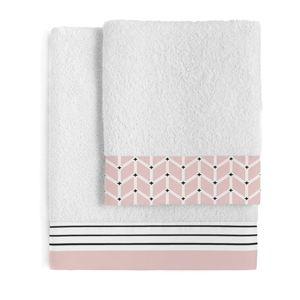 Sada 2 bavlněných ručníků Blanc Blush