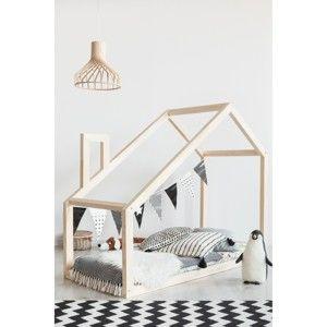 Domečková postel z borovicového dřeva Adeko Mila DM,90x200cm