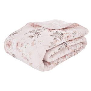 Růžový prošívaný přehoz přes postel Catherine Lansfield Canterbury Rose, 220x230cm