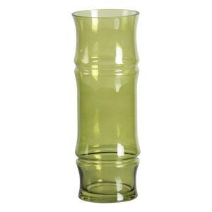 Zelená skleněná váza WOOOD Kane,výška30cm