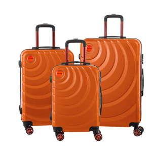 Sada 3 oranžových cestovních kufrů Murano Manhattan
