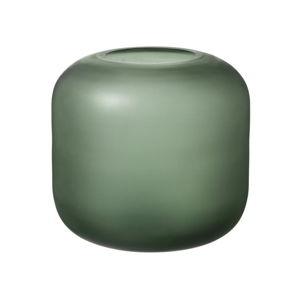 Zelená skleněná váza Blomus Bright,výška17cm