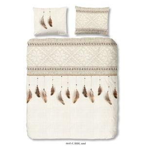 Flanelové bavlněné povlečení na jednolůžko Good Morning Bibi, 140 x 200 cm
