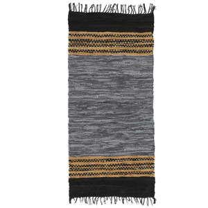 Modrý kožený koberec Simla, 170x130cm