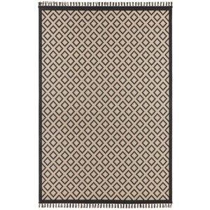 Béžovočerný koberec Hanse Home Intense Muro, 200 x 290 cm