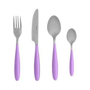 4dílný set příborů s fialovou rukojetí Brandani Ginger