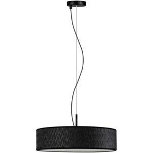 Černé závěsné svítidlo Bulb Attack Ocho Slim, ⌀ 50 cm