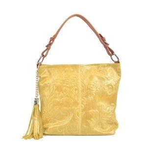 Žlutá kožená kabelka Isabella Rhea Valla