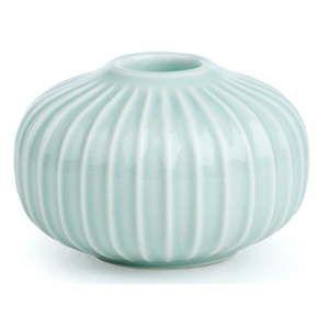 Mentolově modrý porcelánový svícen Kähler Design Hammershoi, ⌀ 8 cm