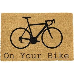 Rohožka z přírodního kokosového vlákna Artsy Doormats On Your Bike,40x60cm