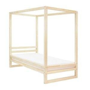 Dřevěná jednolůžková postel Benlemi Baldee Naturaleza, 200x90cm