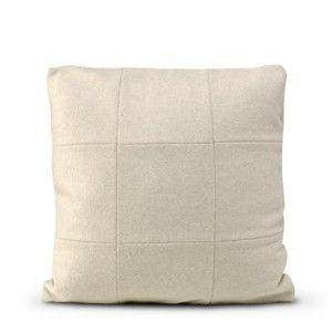 Krémově bílý vlněný povlak na polštář HF Living Felt, 50x50cm
