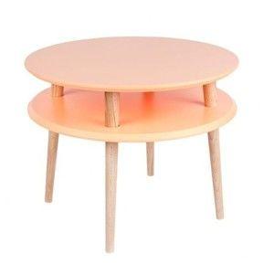 Oranžový konferenční stolek Ragaba UFO,⌀57cm