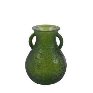 Zelená váza z recyklovaného skla Ego Dekor Cantaro, výška 16 cm