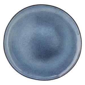 Modrý keramický mělký talíř Bloomingville Sandrine