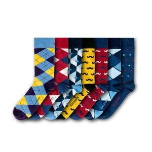 Sada 7 párů ponožek Black&Parker London Oxford, vel.37-43