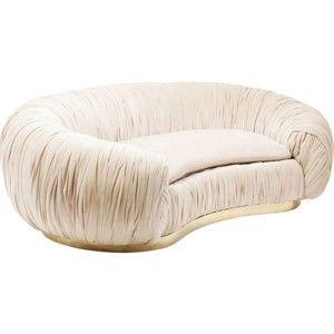 Béžová sedačka pro dva se zlatými detaily Kare Design Perugia