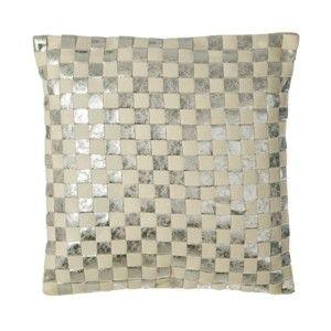 Čtvercový polštář s podílem vlny Premiere Living Checkerboard