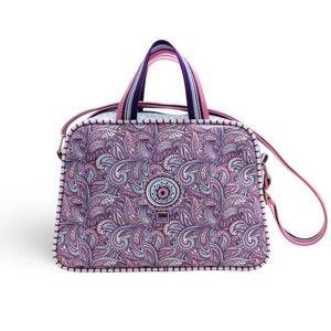 Malá kabelka s popruhem přes rameno Makenotes Purple&Pale
