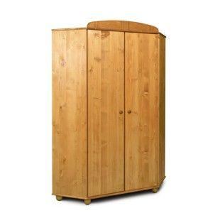 Rohová šatní skříň z borovicového dřeva Faktum Tomi
