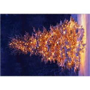Koberec Vitaus Christmas Period Lit Up Tree Outside, 50 x 80 cm